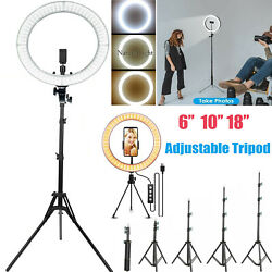 18quot; LED Ring Light Lamp Phone Selfie Camera Studio Video Dimmable Tripod Stand $13.99