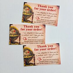"""50 Thank You for Your Order Purchase Business Cards Ebay Amazon Etsy """"Vintage"""" $6.95"""