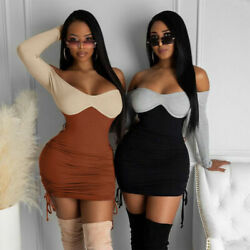 Women Ladies Sexy Casual Bodycon Knit Sweater Slim Mini Dress Skirt Party Club $20.99