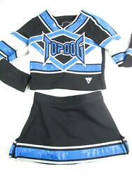 Child Cheerleader Uniform Cheer Costume Outfit TOP DOG 26quot; Top 22quot; Skirt Bling $32.00
