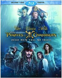 Pirates Of The Caribbean Dead Man Tell No Tales Blu Ray FREE SHIPPING $7.99