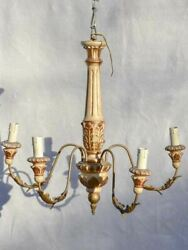 Pretty 5 light Italian chandelier from the late 19th century 19¼quot; $1240.00