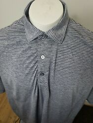 FootJoy Golf Polo Shirt Men#x27;s 2XL XXL Short Sleeve Striped Polyester Blend $19.95