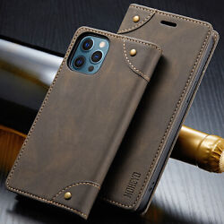 Slim Magnetic Flip Cover Card Leather Wallet Case For iPhone 12 Pro Max Mini $10.95