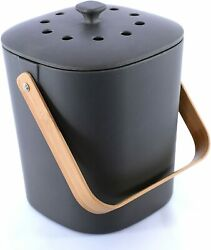 Bamboozle Food Composter Indoor Compost Bin for Kitchen Graphite $57.20