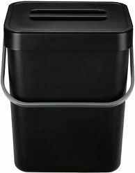 HOMWE Kitchen Compost Bin for Countertop or Under Sink 1.3 Gallons Black $20.52