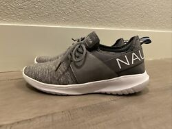 Nautica Size 10 Womens Kappil Running Athletic Jogging Gray White Sneakers Shoes $14.98