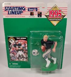 TROY AIKMAN Dallas Cowboys NFL Starting Lineup 1995 Action Figure amp; Card $10.00