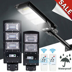 Commercial Solar Street Light Outdoor Ultra Bright LED 990000LM Road LampPole