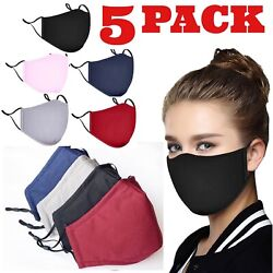 Adjustable ADULT Triple Layers Cotton Washable Reusable With Pocket Face Mask. $11.99