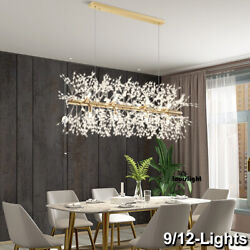 Crystal Pendant Lamp Kitchen Island Chandelier Modern Ceiling 9 12 Light Fixture $209.99