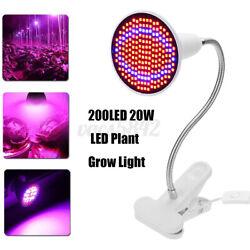 200 LED 20 W Plant Grow Light Flower Growing Lamp Clip for Indoor Hydroponic Veg $15.94