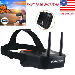5.8Ghz Mini FPV Goggles 3quot; FPV Video Headset Glasses w Double RP SMA Antenna US $41.03