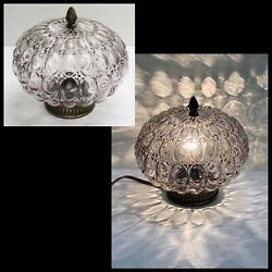 Vintage MID CENTURY 10quot; SMOKE BUBBLE GLASS GLOBE SHADE CEILING LAMP Swag MCM $69.99