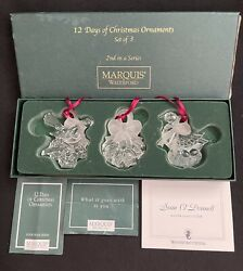 WATERFORD MARQUIS 12 DAYS OF CHRISTMAS SET 3 ORNAMENTS 2ND SERIES SEAN O#x27;DONNELL $124.99
