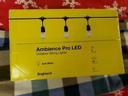 Brightech Ambience Pro Edison White LED Waterproof Outdoor String Lights 48 Ft.