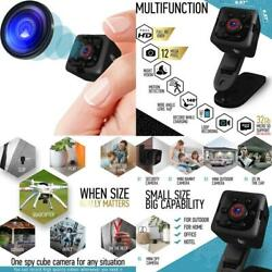 Mini Spy Camera 1080P Hidden Camera Portable Small Hd Nanny Cam With Night Vis $44.43