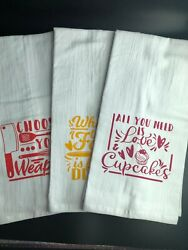Kitchen Towels with Fun and Sassy Sayings $5.25