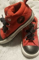 Converse All Star Toddler Infant Red Black Tennis Shoes Size 8 $12.00