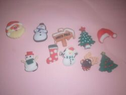 Shoe Charms Lot of 10 Christmas Variety for Crocs $7.99