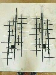 Pair Mid Century Modern Wall Sconce $329.00