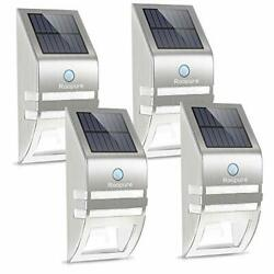 Fence Post Solar Lights Outdoor Solar Wall Lights Motion Silver White $62.72