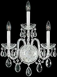 Schonbek Arlington 3 Light Silver Wall Sconce Dressed With Heritage Crystals $300.00
