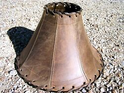 Southwest Leather table Lamp Shade 2037 $169.95