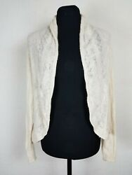 Angel Of The North Womens Size Small Cardigan Wool Blend Open Knit Sweater S $16.96