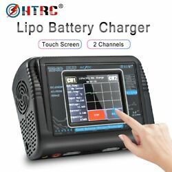 HTRC T240 DUO RC Charger AC 150W DC 240W Touch Screen Dual Channel 10A Balance $99.99