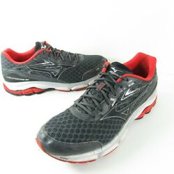 Mizuno WAVE INSPIRE 12 Mens Gray Red Black Running Training Shoes Size 12 $31.99