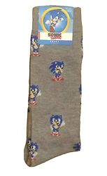 New SONIC THE HEDGEHOG Mens Novelty Crew Socks Size 10 13 $5.99