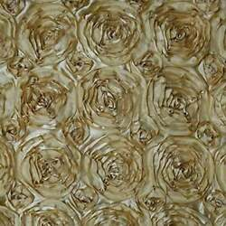 GOLD Rosette Satin Fabric – Sold By The Yard Floral Flowers Satin Decor $14.99