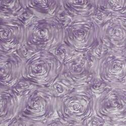 LAVENDER Rosette Satin Fabric – Sold By The Yard Floral Flowers Satin Decor $13.99