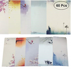 NUIBY 60 Pcs Stationery Paper and Envelopes Set 40 Stationery Paper 20 Letter $11.45