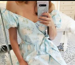 Love Shack Fancy For Target Estelle Puff Sleeve Light Blue Dress Size 0 NWT $65.00