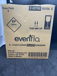 EVENFLO Classic Glass Nursers 6 8oz Baby Bottles $16.90