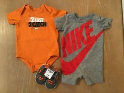 Infant Boy#x27;s Nike And Oshkosh Shirts And Shoes Lot of 3 1 New Size 3 6 Months
