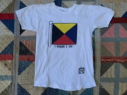 VTG 80's Champion for Abercrombie And Fitch Cotton T shirt Heavyweight Nautical $65.00