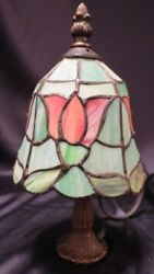 TIFFANY STYLE STAINED GLASS ACCENT LAMP SMALL BEDSIDE NIGHTLIGHT 7 watt $46.62