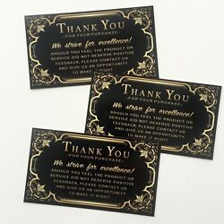 50 Thank You for Your Order Purchase Business Cards Ebay Amazon Etsy US Seller $6.95