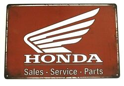 New Honda Motorcycles Tin Metal Sign Rustic Vintage Sales Service Parts Biker $9.72