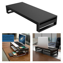 Aluminum Computer PC Monitor Stand Riser Support Office Organizer Durable $66.86