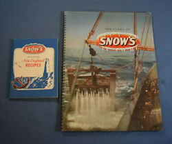 2 Vintage Snow#x27;s Brand Items New England Recipes and History Clams Lobsters $30.00