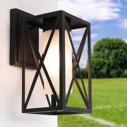 LALUZ Outdoor Wall Sconce Farmhouse Exterior Fixtures Outside Porch Lights with