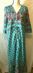 The Dragonfly Central Boho Maxi Dress Lightweight Size XL $12.00