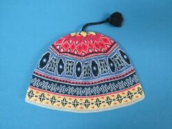 Turtle Fur Multi Color Knit Lined Beanie Hat Women One Size $14.99