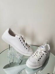 Coach Porter White Leather Sneakers Tennis Women#x27;s Shoes Size 10 $59.99