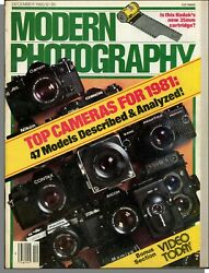 Modern Photography 1980 December Top Cameras For 1981 Video Today $14.99