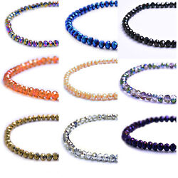 Rondelle Faceted Crystal Glass Loose Spacer Beads 2mm 4mm 6mm 8mm 10mm wholesale $2.59